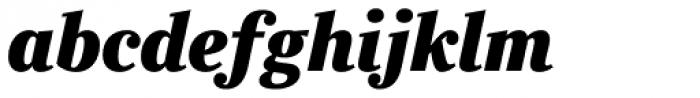 Ysobel Pro Display ExtraBold Italic Font LOWERCASE
