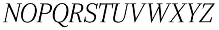 Ysobel Pro Display Light Italic Font UPPERCASE