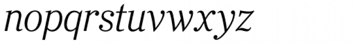 Ysobel Pro Display Light Italic Font LOWERCASE