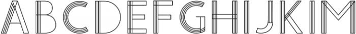 YUCCA GEOMETRICAL otf (400) Font LOWERCASE