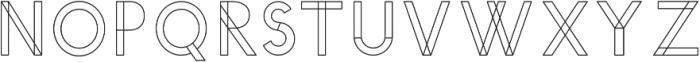YUCCA OUTLINE otf (400) Font UPPERCASE