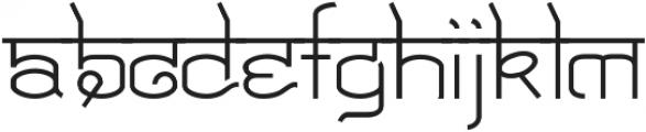 Yuga ttf (400) Font LOWERCASE