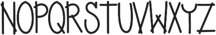Yujufont ttf (400) Font UPPERCASE