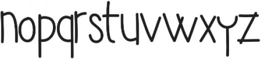 Yujufont ttf (400) Font LOWERCASE