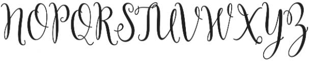 Yulinda Script otf (400) Font UPPERCASE