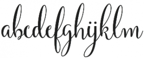 Yulinda Script otf (400) Font LOWERCASE