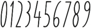 Yummy Italic Bold otf (700) Font OTHER CHARS