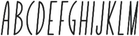 Yummy Italic Bold otf (700) Font UPPERCASE