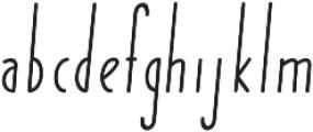 Yummy Italic Bold otf (700) Font LOWERCASE