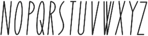 Yummy Italic Regular otf (400) Font UPPERCASE