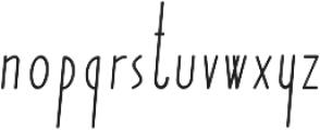 Yummy Italic Regular otf (400) Font LOWERCASE