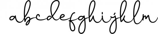 Yussan Script Font LOWERCASE