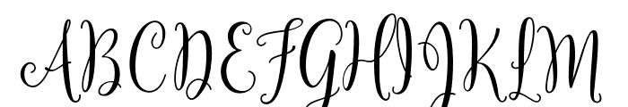 YulindaScriptDemo Font UPPERCASE