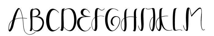 YullisaScript Font UPPERCASE
