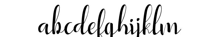 YullisaScript Font LOWERCASE