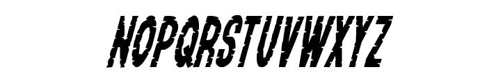 Yummy Mummy Condensed Italic Font LOWERCASE