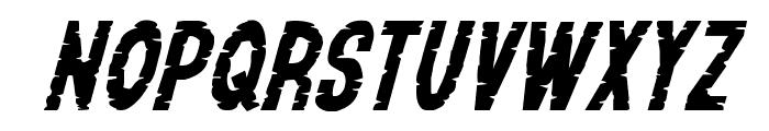 Yummy Mummy Expanded Italic Font UPPERCASE