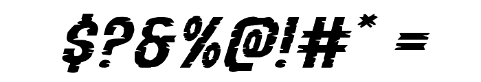 Yummy Mummy Extra-Expanded Italic Font OTHER CHARS