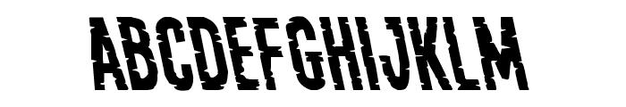 Yummy Mummy Leftalic Font UPPERCASE
