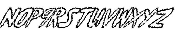 yumernub fuzzy Font LOWERCASE