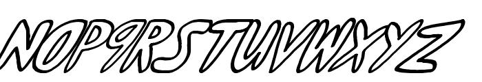 yumernub slanty Font LOWERCASE
