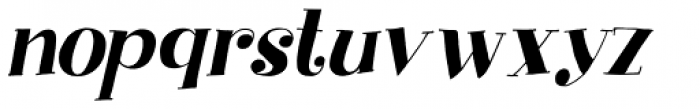 Yuli Italic Font LOWERCASE