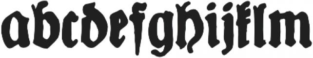 YWFT Fraktur Alt otf (400) Font LOWERCASE