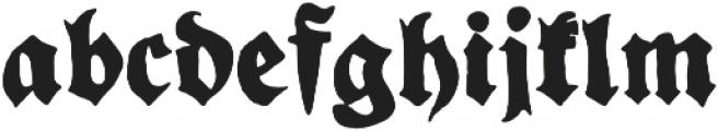 YWFT Fraktur Regular otf (400) Font LOWERCASE