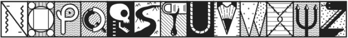 YWFT Illuminati Alternate otf (400) Font LOWERCASE