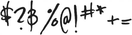 YWFT Signature Alternate Light otf (300) Font OTHER CHARS