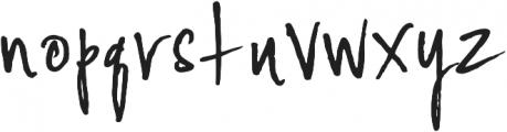 YWFT Signature Alternate Light otf (300) Font LOWERCASE
