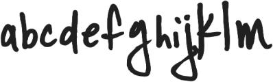 YWFT Signature Alternate otf (400) Font LOWERCASE
