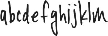 YWFT Signature Light otf (300) Font LOWERCASE