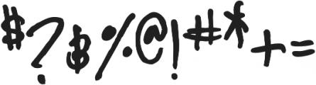 YWFT Signature Regular otf (400) Font OTHER CHARS