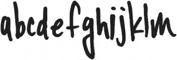 YWFT Signature Regular otf (400) Font LOWERCASE