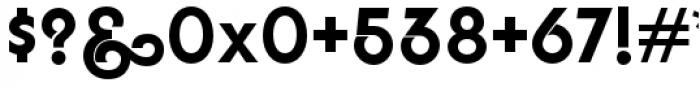YWFT Agostina Alternate Regular Font OTHER CHARS