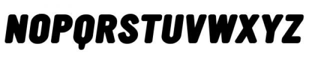 YWFT Ultramagnetic Black Oblique Font UPPERCASE