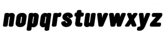 YWFT Ultramagnetic Black Oblique Font LOWERCASE