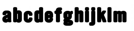 YWFT Ultramagnetic Black Font LOWERCASE