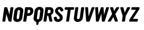 YWFT Ultramagnetic Bold Oblique Font UPPERCASE