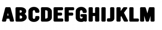 YWFT Ultramagnetic Expanded Extra Bold Font UPPERCASE