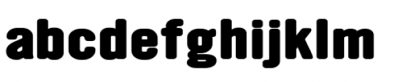 YWFT Ultramagnetic Expanded Extra Bold Font LOWERCASE