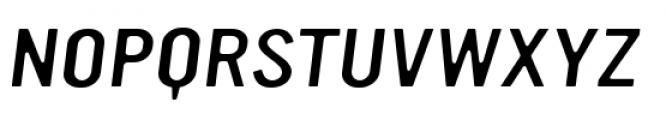 YWFT Ultramagnetic Expanded Light Oblique Font UPPERCASE