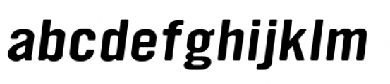 YWFT Ultramagnetic Expanded Oblique Font LOWERCASE