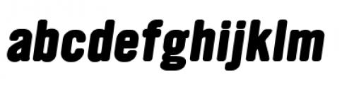 YWFT Ultramagnetic Extra Bold Oblique Font LOWERCASE