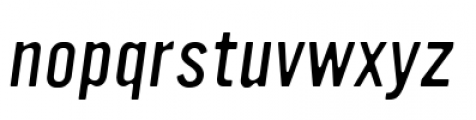 YWFT Ultramagnetic Light Oblique Font LOWERCASE