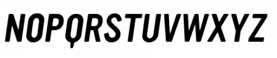 YWFT Ultramagnetic Oblique Font UPPERCASE