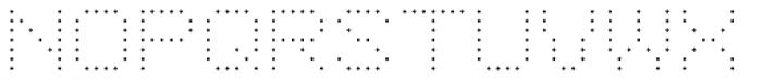 YWFT 6x7oct ExtraLight Font UPPERCASE