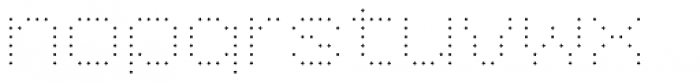 YWFT 6x7oct ExtraLight Font LOWERCASE