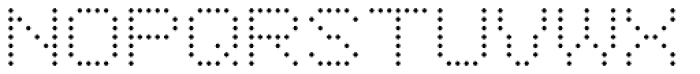 YWFT 6x7oct Light Font UPPERCASE